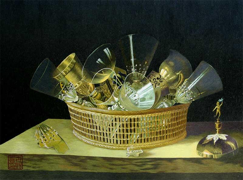 Still Life - Glasses in a basket.jpg